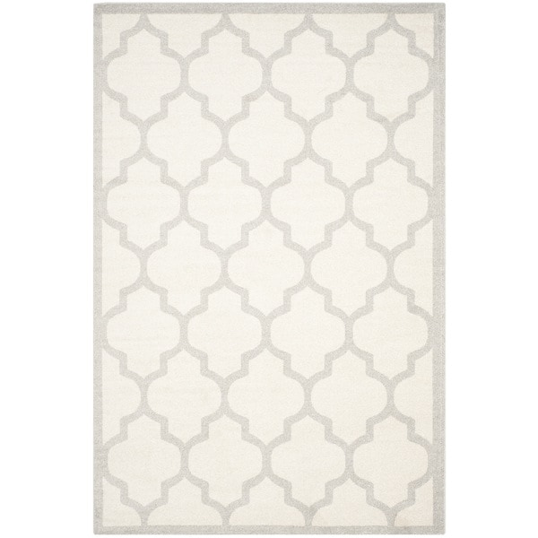 Safavieh Indoor/ Outdoor Amherst Beige/ Light Grey Rug - 9' X 12'