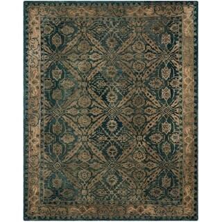 Safavieh Handmade Anatolia Oriental Navy/ Ivory Hand-spun Wool Rug (9' x 12')