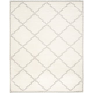 Safavieh Indoor/ Outdoor Amherst Beige/ Light Grey Rug (9' x 12')