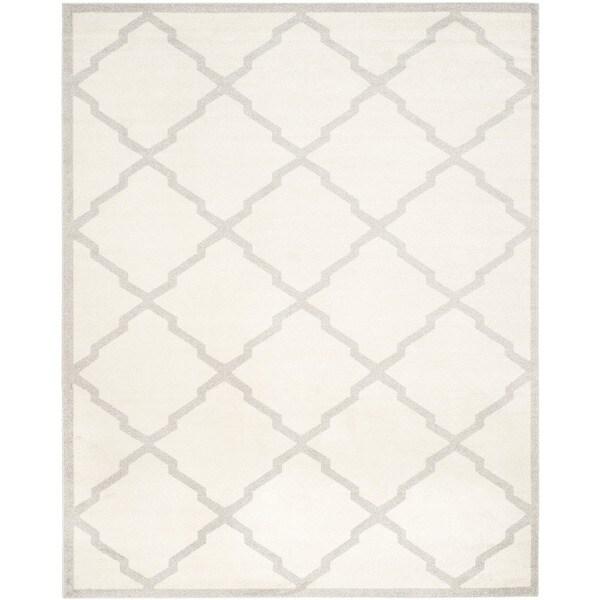 Safavieh Indoor/ Outdoor Amherst Beige/ Light Grey Rug - 9' x 12'
