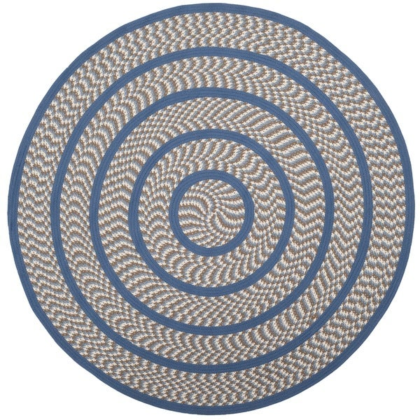 Safavieh Hand Woven Reversible Braided Ivory Blue Rug 6