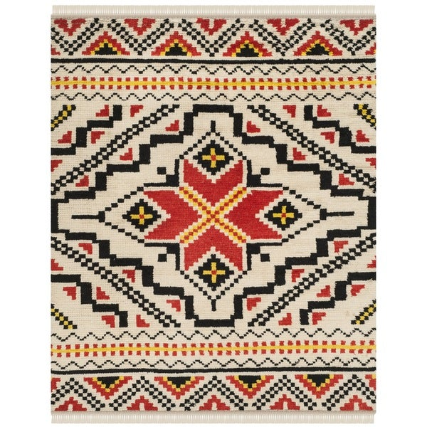 Safavieh Hand-woven Kenya Multicolored Wool Rug - 8' x 10'