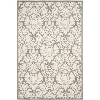 Safavieh Indoor/ Outdoor Amherst Dark Grey/ Beige Rug (4' x 6')