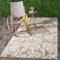 Safavieh Indoor/ Outdoor Amherst Wheat/ Beige Rug - 4' x 6'