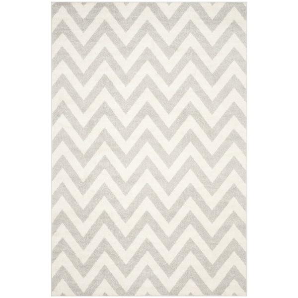 Safavieh Indoor/ Outdoor Amherst Light Grey/ Beige Rug - 8' x 10'