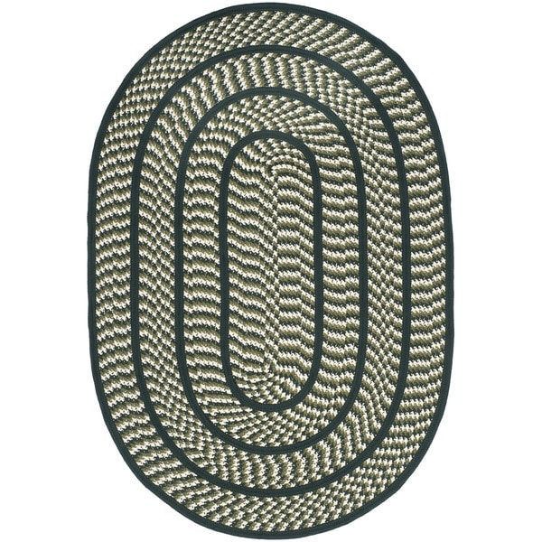 Used Oval Braided Rugs: Shop Safavieh Hand-woven Reversible Braided Ivory/ Dark