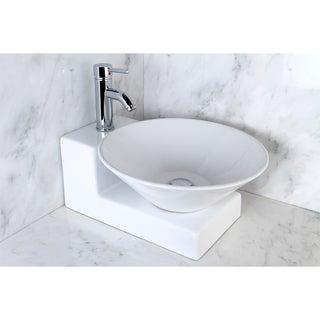 Vessel Vitreous China Sink and Faucet Set