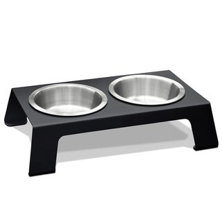 PetFusion Elevated Anodized Aluminum Pet Feeder