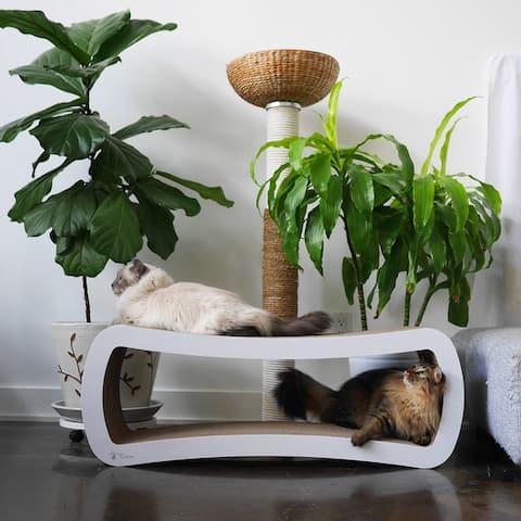 PetFusion Jumbo Cat Scratcher Lounge - White