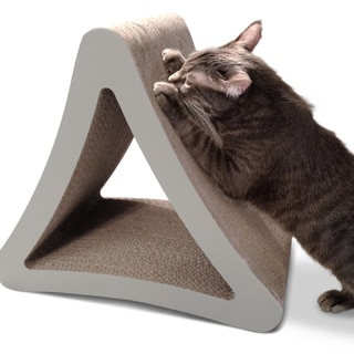 PetFusion 3-sided Vertical Cat Scratching Post - Grey