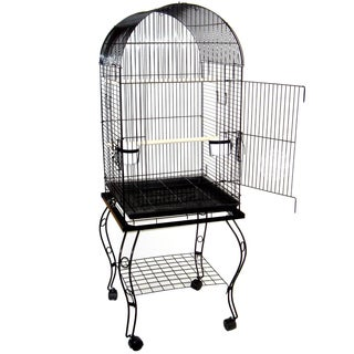 YML 20-inch Dome Top Parrot Cage with Stand