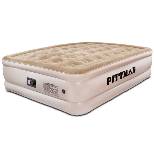 Shop Pittman Ultra Double High Queen Size Air Mattress With Built In Pump Free Shipping Today