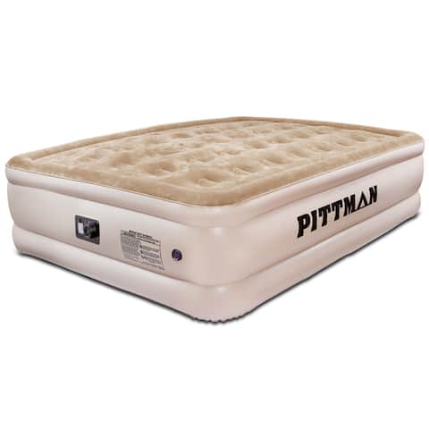 Pittman Ultra Double High Queen Air Mattress with Built-in Pump