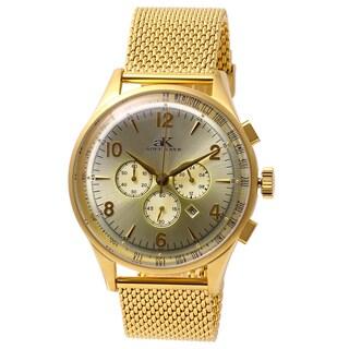 Adee Kaye Men's Mondo G-3 Collection Goldtone Chronograph Watch