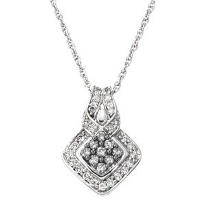 SilverMist 1/2ct TDW Grey and White Diamond Pendant By Ever One (H-I, I2-I3)