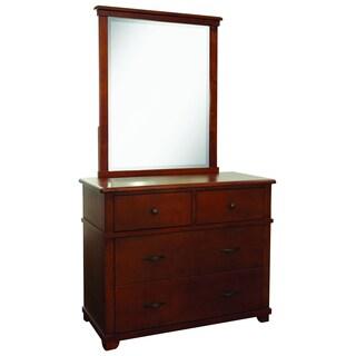 Woodridge 4-drawer Chest and Mirror Set