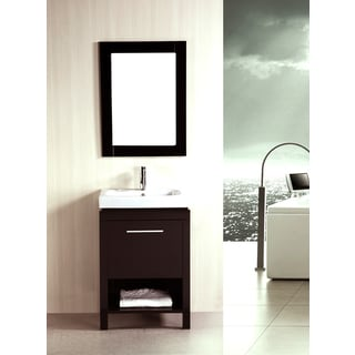 kokols 24-inch Single Free-standing Bath Cabinet with Ceramic Sink