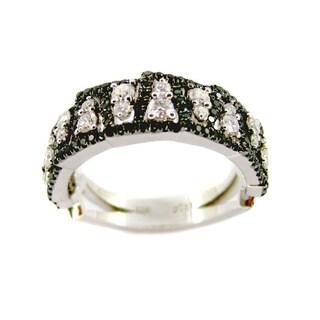 Kabella Luxe 18k White Gold Black and White Diamond Ring (H-I, VS1-VS2)