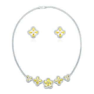 Blue Box Jewels Yellow Topaz Cubic Zirconia Flower Necklace and Earring Set https://ak1.ostkcdn.com/images/products/9236232/P16402931.jpg?impolicy=medium