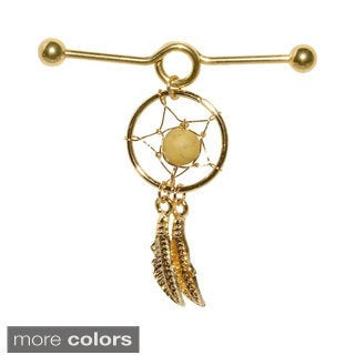 Supreme Jewelry 14G Industrial Barbell Dream Catcher Earring