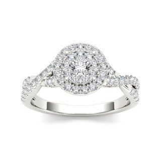 De Couer 10k Gold 1/2ct TDW Diamond Imperial Engagement Ring