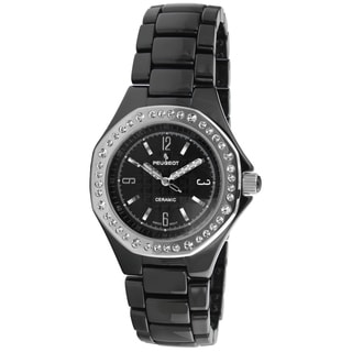 Peugeot Women's PS4896BS Swiss Black Ceramic Watch