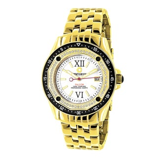 Centorum Men's Midsize Falcon 1/2ct TDW White Diamond Watches Metal Band plus Extra Leather Straps