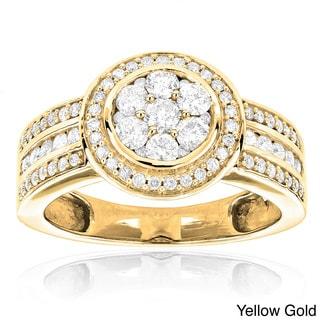 Luxurman 14k Gold 1 1/5ct TDW Diamond Engagement Ring (H-I, SI1-SI2)