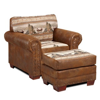 Alpine Lodge Cotton Printed Tapestry Chair