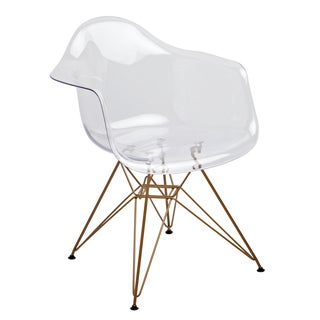 Design Guild Living Clear Seat Gold Legs Chair