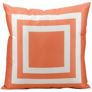 Mina Victory Indoor/Outdoor Squares Orange Throw Pillow (20-inch x 20-inch) by Nourison