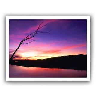 Dean Uhlinger 'Gila River Sunset' Unwrapped Canvas