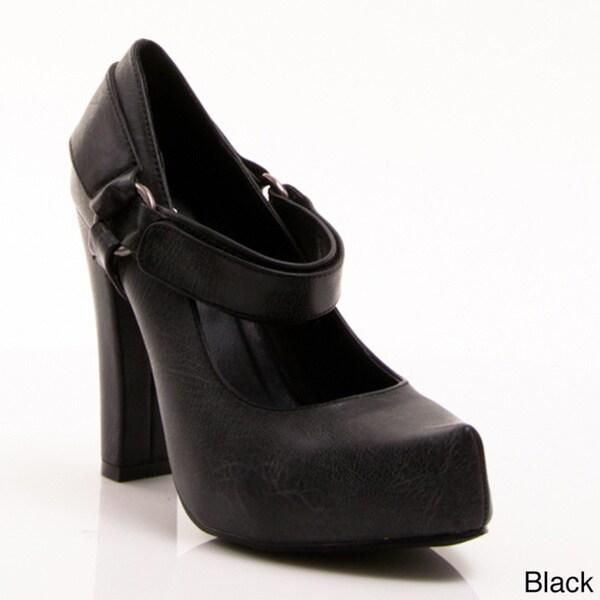 a3e39e4457e8f1 Shop Nvy Women s  Dayna 01  Mary Janes Chunky Heel Pump - Free ...