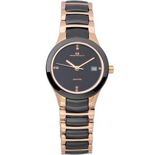 Oceanaut Women's Ceramic Crystal Two-tone Quartz Watch