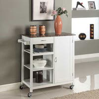 Maison Rouge Ayres Wooden 3-shelf Kitchen Cart (Black)
