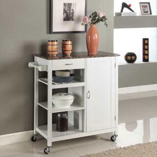 Maison Rouge Ayres Wooden 3 Shelf Kitchen Cart (Black) (2 Options Available
