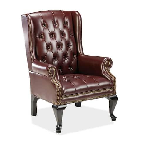 Lorell 777 QA Queen Anne Wing Back Reception Chair