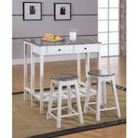 Marble Veneer-top 3-piece Breakfast Pub Set