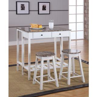 Marble Veneer-top 3-piece Breakfast Pub Set & Bar \u0026 Pub Table Sets For Less   Overstock.com