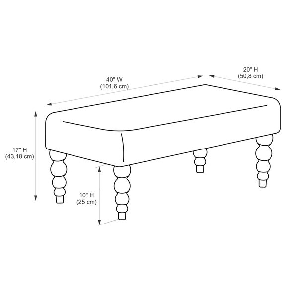 Damask Bench Part - 33: Linon Claire Grey Damask Fabric Ottoman Bench - Free Shipping Today -  Overstock.com - 16404084