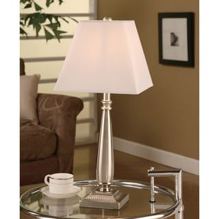 Brushed Nickel Steel Table Lamp (Set of 2)