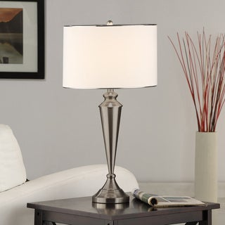 Copper Grove Itasca Brushed Nickel Contemporary Table Lamp (Set Of 2)