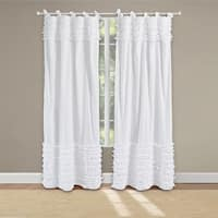 Madison Park Joycelyn Cotton Oversized Ruffle Curtain