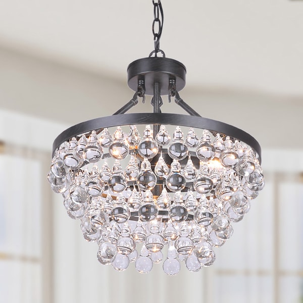 Oliver James Opalka Antique Crystal Chandelier