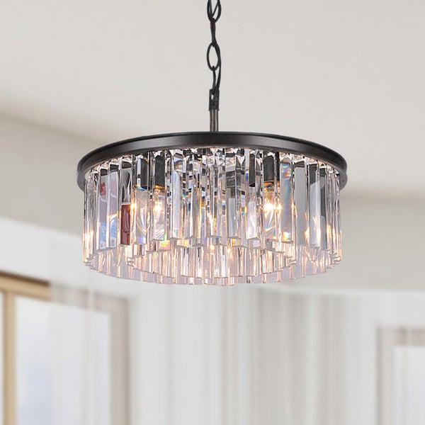 black chandelier lighting photo 5. Justina 5light Antique Black Chandelier With Crystal Glass Prisms Lighting Photo 5