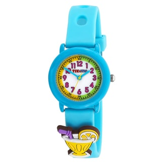 Kids' Beach Theme Blue Watch with Interchangeable Adornments