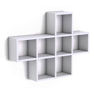 Cubby Laminated White Veneer Shelving Unit