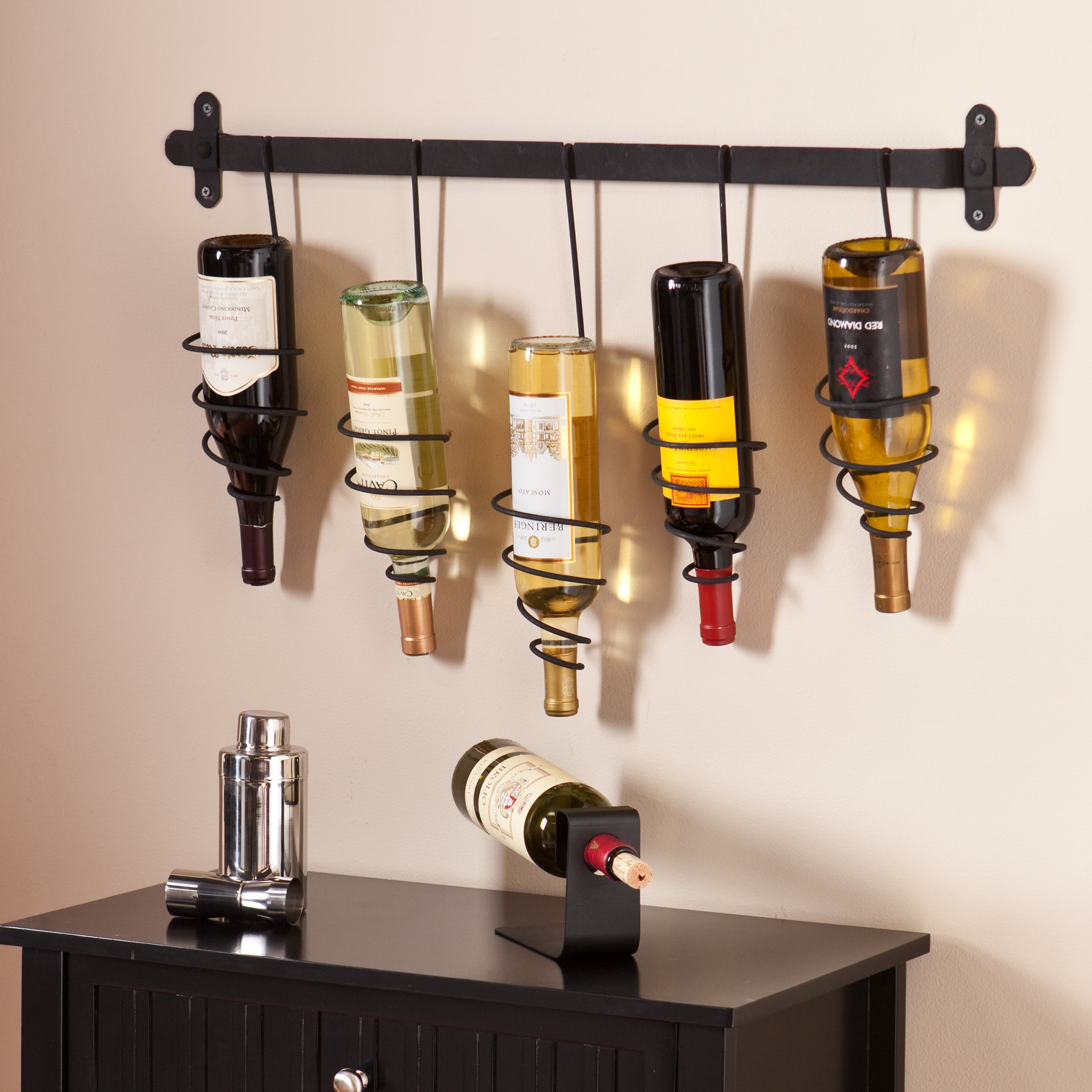 Shop Black Friday Deals On Copper Grove Caribou Wall Mount Wine Storage Rack On Sale Overstock 20559017