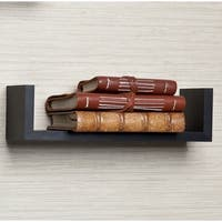 Floating 'U' Laminated Black Shelves (Set of 3)