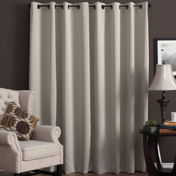 Ultimate Blackout Grommet Top Patio Curtain Panel   112 X 84